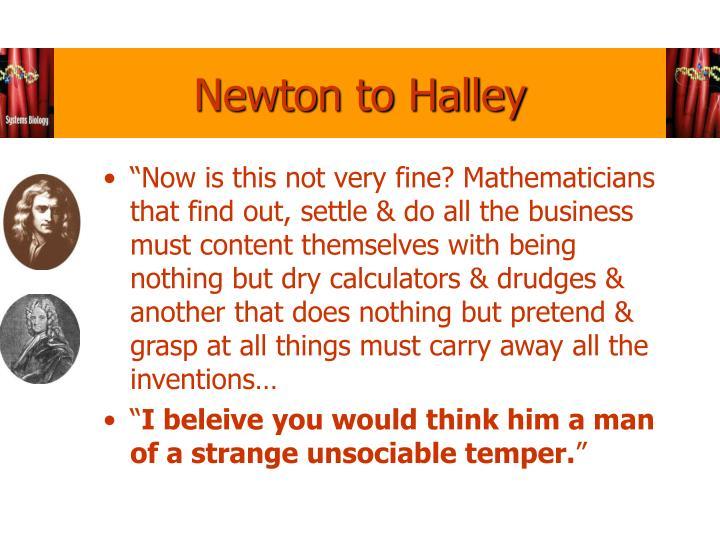 Newton to Halley