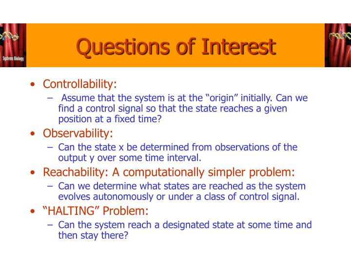 Questions of Interest