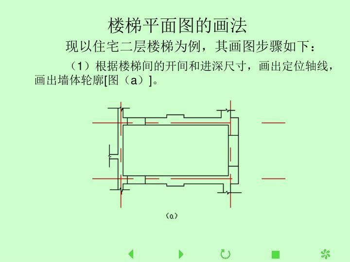 楼梯平面图的画法