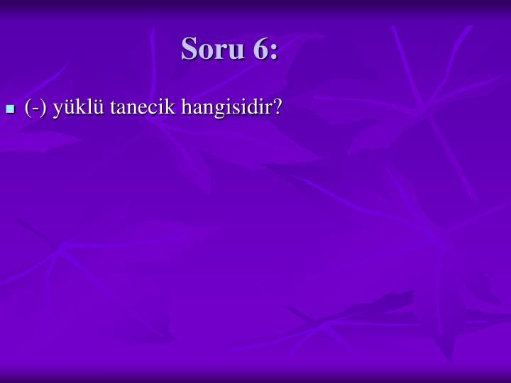 Soru 6: