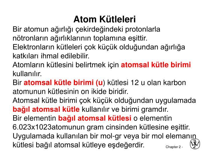 Atom Kütleleri