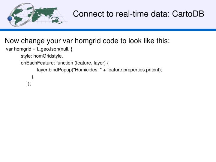 Connect to real-time data: