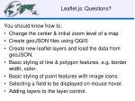 leaflet js questions