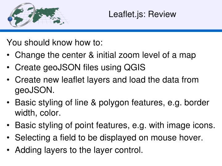 Leaflet.js: Review