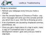 leaflet js troubleshooting