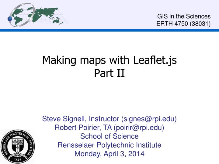 making maps with leaflet js part ii
