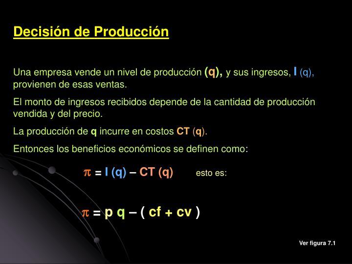 Decisión de Producción
