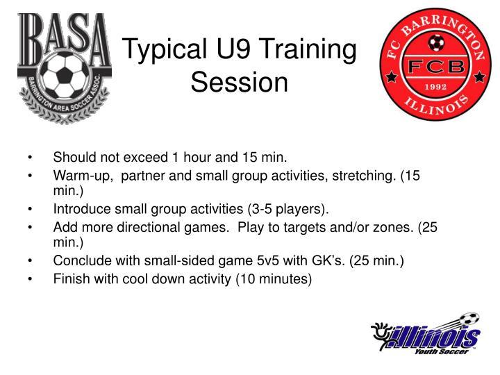 Typical U9 Training Session