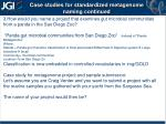 case studies for standardized metagenome naming continued