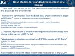 case studies for standardized metagenome naming