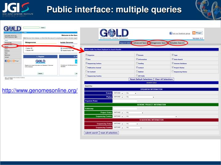 Public interface: multiple queries