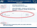 submitting genomic project metadata in img gold6