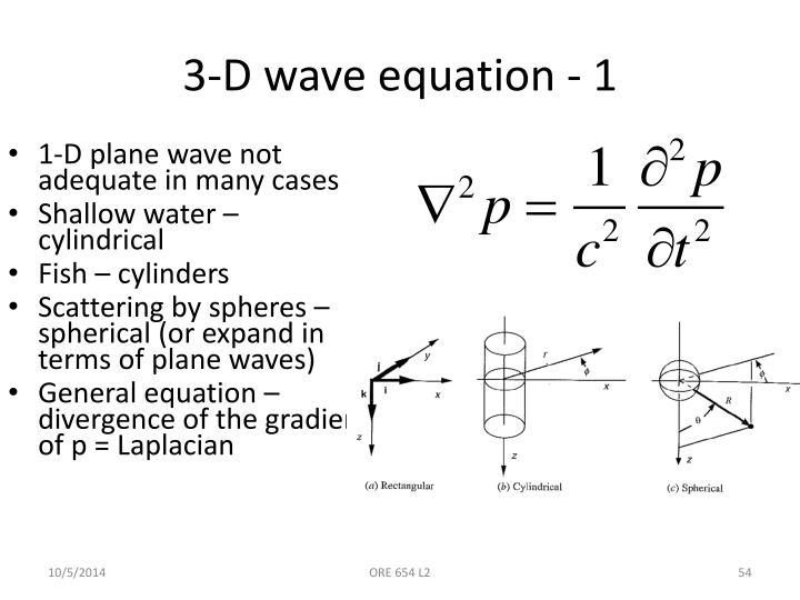 3-D wave equation - 1