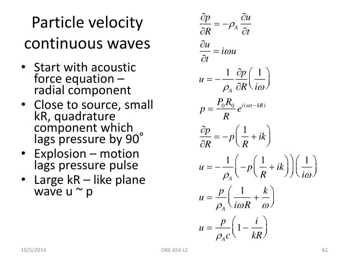 Particle velocity