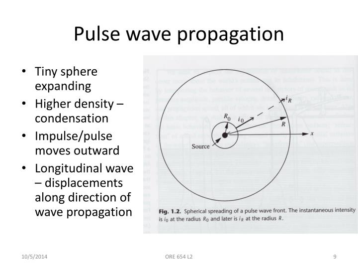 Pulse wave propagation
