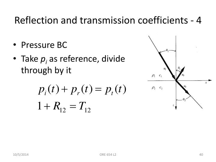 Reflection and transmission coefficients - 4