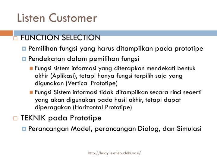 Listen Customer
