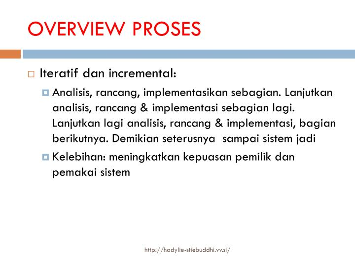 OVERVIEW PROSES