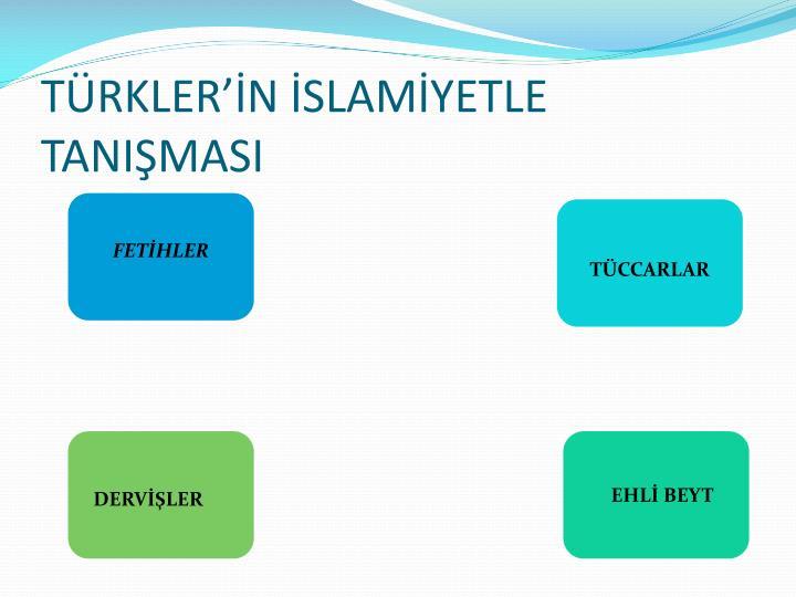 TÜRKLER'İN İSLAMİYETLE TANIŞMASI