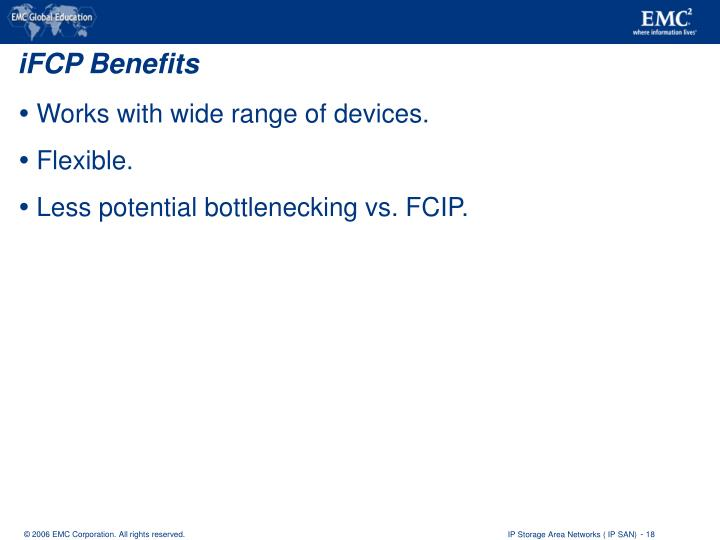 iFCP Benefits