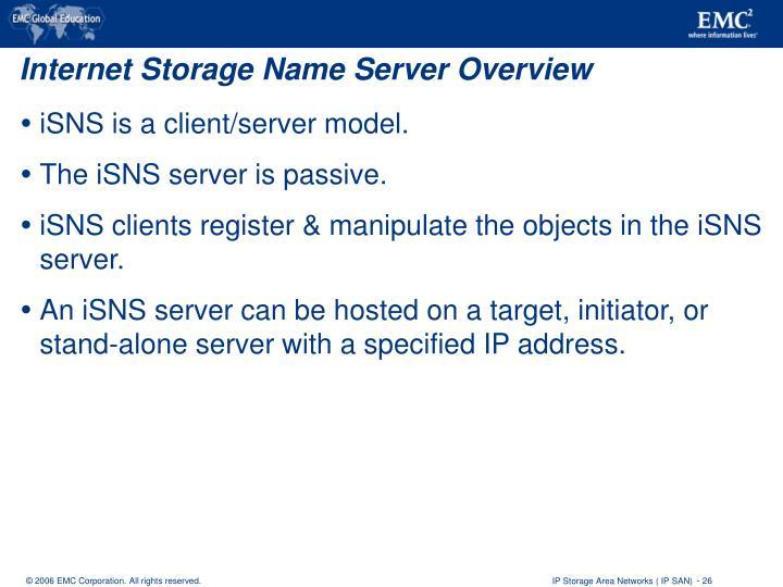 Internet Storage Name Server Overview
