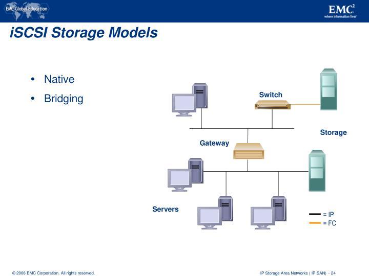 iSCSI Storage Models