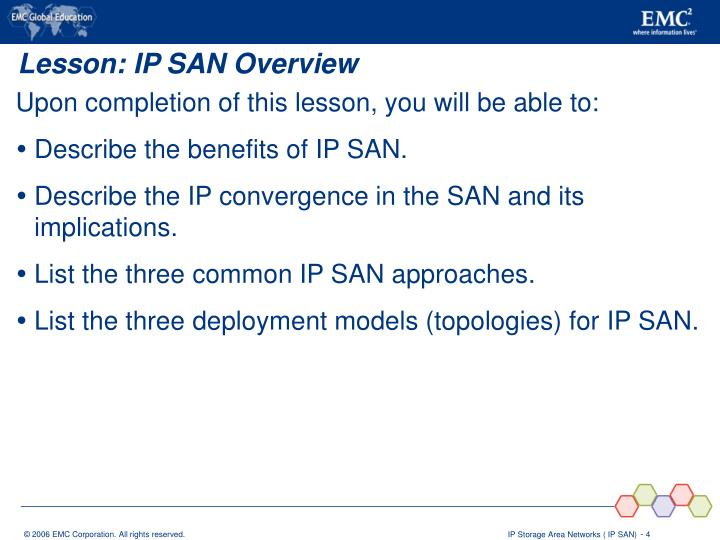 Lesson: IP SAN Overview