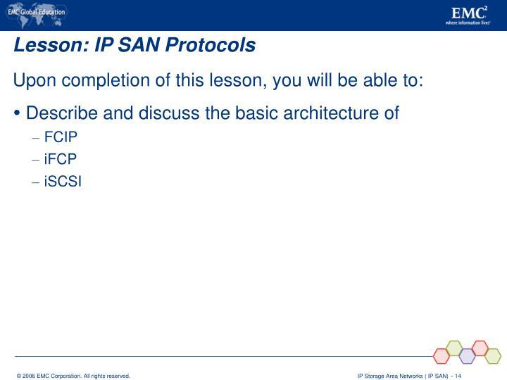 Lesson: IP SAN Protocols