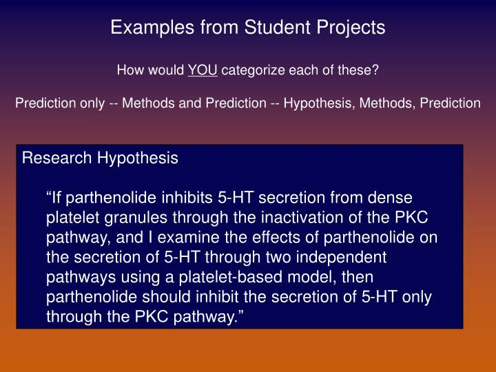Examples from Student Projects