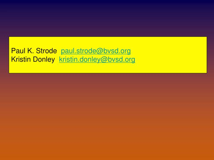 Paul K. Strode