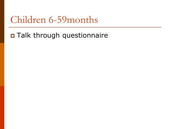 Children 6-59months