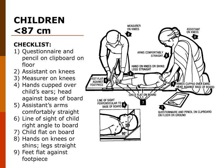CHILDREN <87 cm