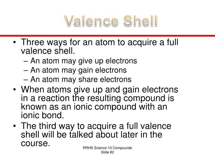 Valence Shell