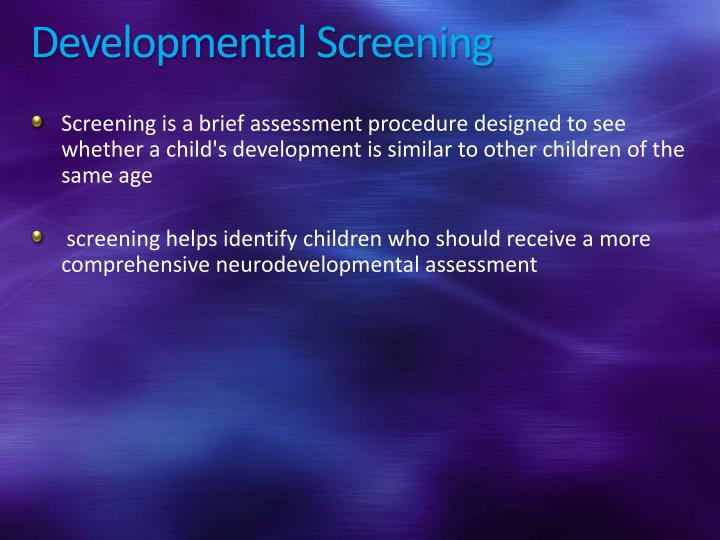 Developmental Screening