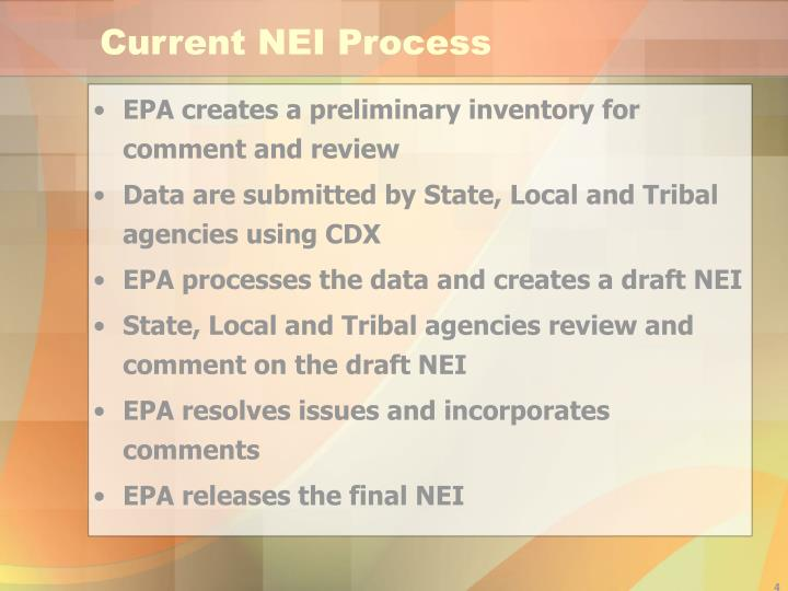 Current NEI Process
