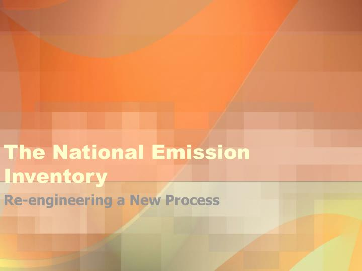 The national emission inventory