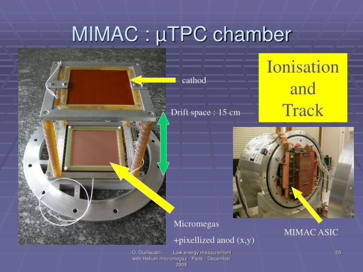 MIMAC : µTPC chamber
