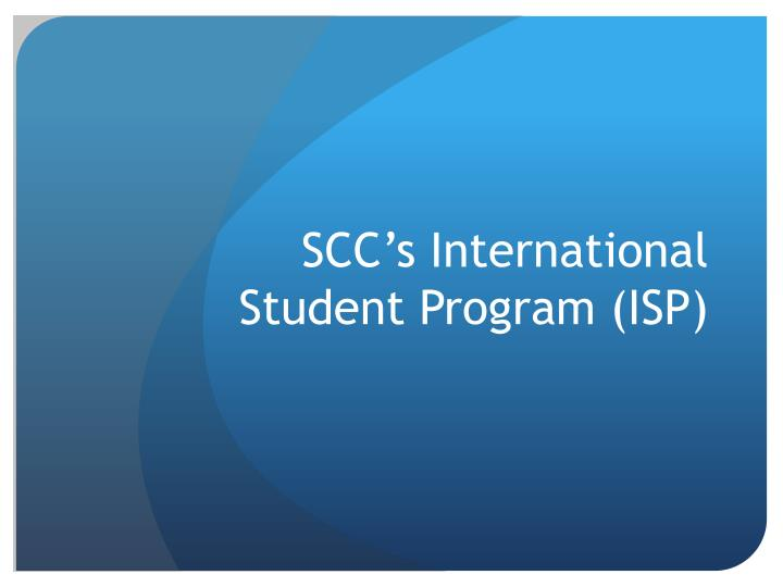 Scc s international student program isp