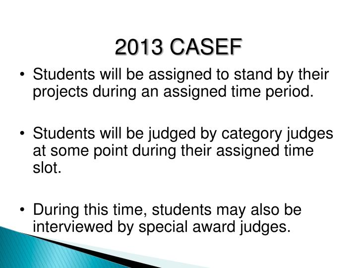 Students will be assigned to stand by their projects during an assigned time period.