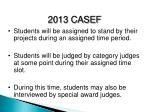 2013 casef