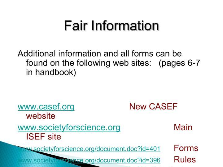 Fair Information