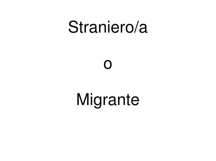 Straniero/a