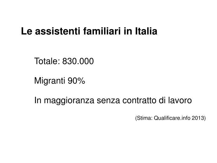 Le assistenti familiari in Italia