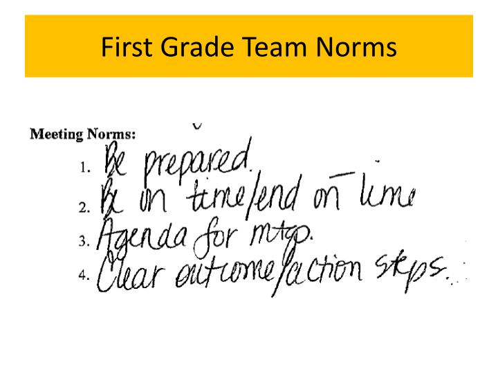 First Grade Team Norms