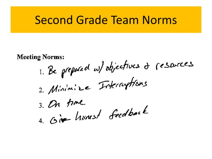 Second Grade Team Norms