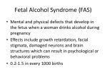 fetal alcohol syndrome fas
