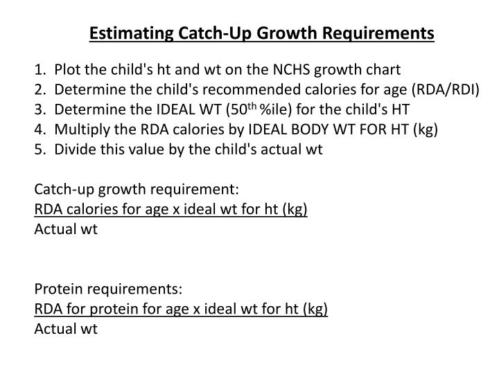 Estimating Catch-Up Growth Requirements
