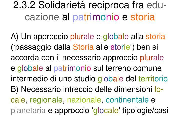 2.3.2 Solidarietà reciproca fra
