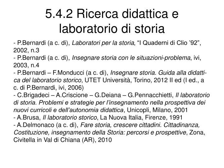 5.4.2 Ricerca didattica e