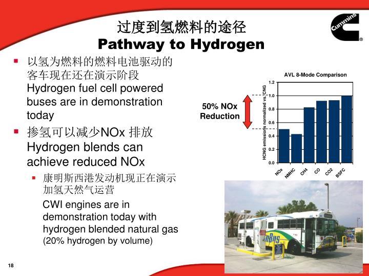 过度到氢燃料的途径
